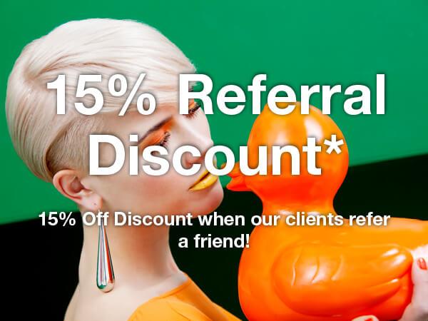 15 Percent Referral Discount