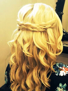 Blond Hair Up
