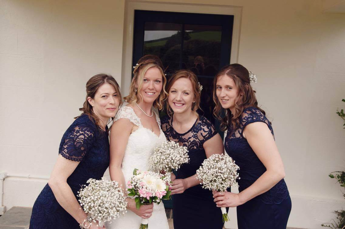 Bride & Bridesmaids hair