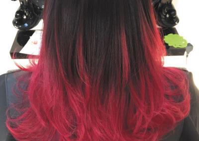 Ombre - red & black