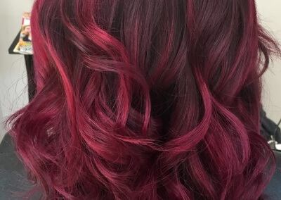 Balayage – deep red