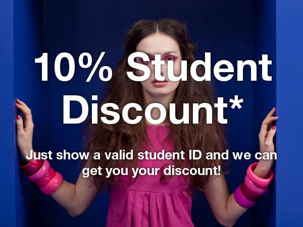 10 Percent Student Discount