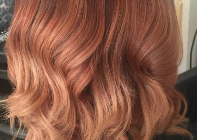 Ombre – copper to champaign rose