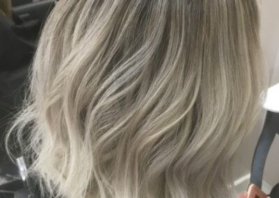 Ash Balayage with club cut