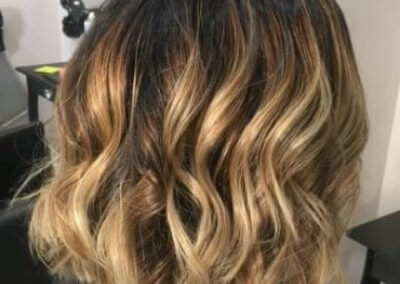 Caramel Balayage with club cut