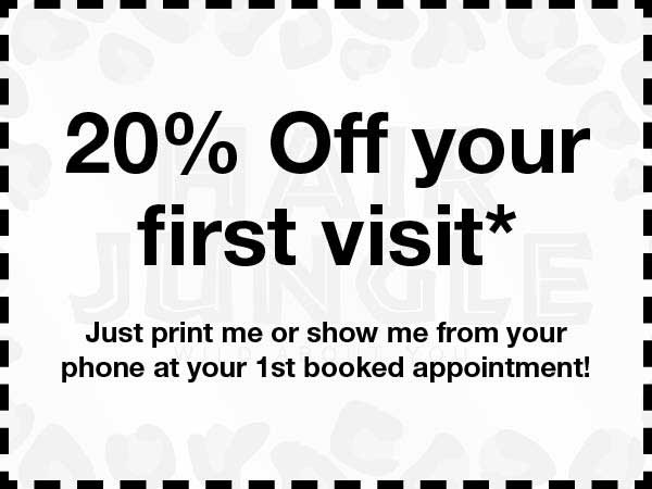 20 percent off your first visit voucher
